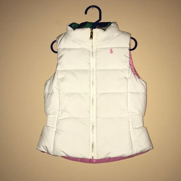 Ralph Lauren reversible whitepink puffer vest